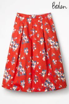 Boden Red Pop Tulip Lola Skirt