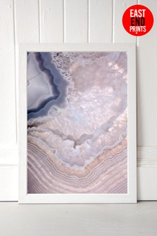 Indigo Lull Framed Print by East End Prints