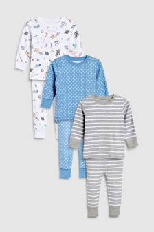 Star/Space Snuggle Fit Pyjamas Three Pack (9mths-8yrs)