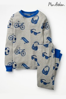 Boden Grey Cosy Long John Pyjama