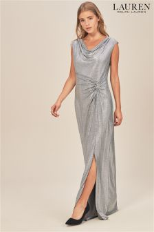 Lauren Ralph Lauren® Shawnia Silver Glistening Maxi Dress