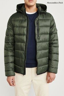 Abercrombie & Fitch Olive Padded Jacket