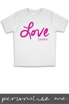 Personalised Love Printed T-Shirt