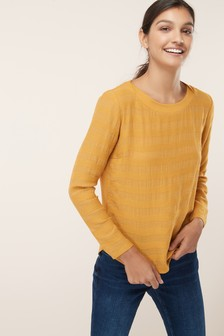 Long Sleeve Woven Mix Stripe Top