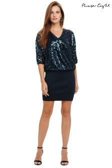 Phase Eight Blue Sequin Dress
