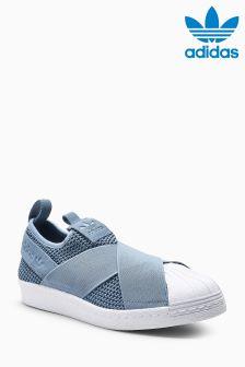 adidas Originals Grey Superstar Slip
