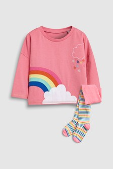 Pop Rainbow Tee And Tights Set (3mths-6yrs)