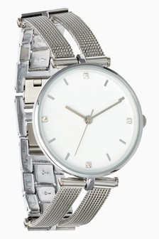 Mesh Split Strap Watch