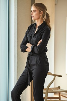 Long Sleeve Tencel® Jumpsuit