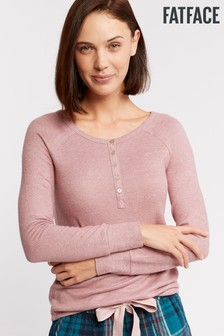 FatFace Purple Weston Henley Pyjama