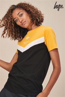 Hype. Black/Yellow Chevron Tee