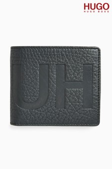 HUGO Black Victorian Embossed Wallet