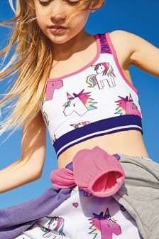 Unicorn Sports Crop Top (3-16yrs)