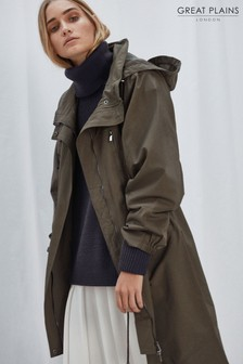 Great Plains Green Long Parka Jacket