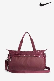 Nike Burgundy Spot Print Radiate Duffel Bag