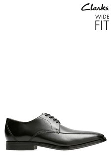 Clarks Wide Fit Black Gilman Mode Shoe