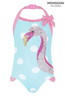 Monsoon Fee Flamingo Sequin Swimsuit
