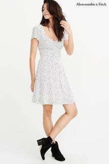 Abercrombie & Fitch White Polka Dot Dress