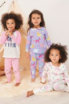 Set 3 Pijamale confortabile cu unicorn (9 luni - 8 ani)