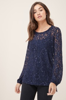 Chenille Lace Top
