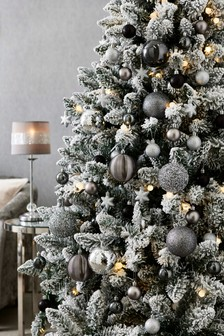 Rose Gold And Silver Christmas Tree Decorations.Christmas Decorations Christmas Baubles Garland Trees