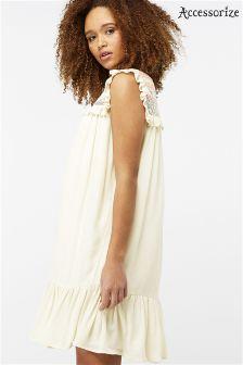 Accessorize White Giardenia Jacquard Dress