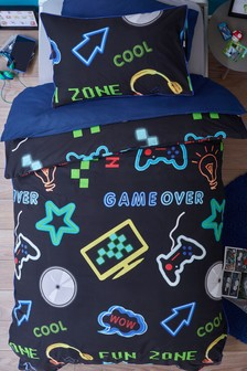 Game Over Duvet Cover and Pillowcase Set