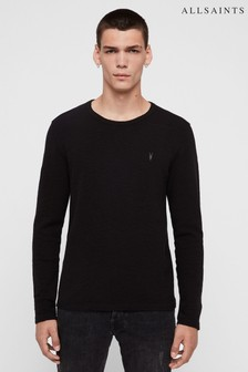 AllSaints Black Textured Clash Sweatshirt