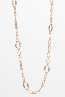 Sparkle Detail Chain Rope Necklace