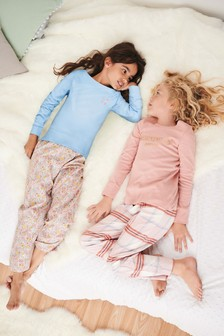 2 Pack Woven Bottom Pyjamas (3-16yrs)