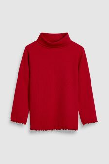 Rib Roll Neck Top (3mths-6yrs)