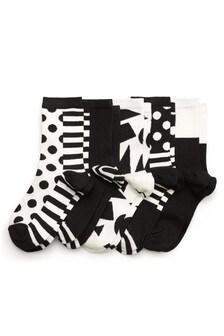 Spot/Stripe Ankle Socks Five Pack
