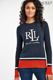 Lauren Ralph Lauren® Navy Contrast Logo Jumper
