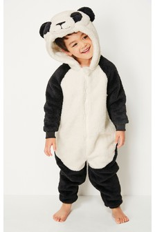 Panda Fleece All-In-One (3-16yrs)
