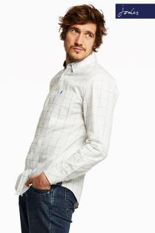 Joules Chalk Blue Window Pane Classic Fit Welford Shirt