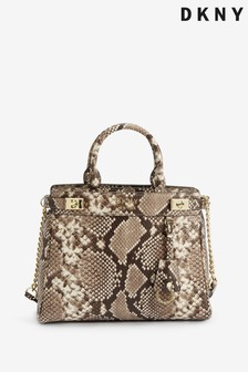 DKNY Snake Effect Leather Large Finch Tote Bag