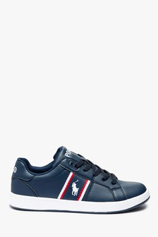 Polo Ralph Lauren Navy Junior Quigley Trainers