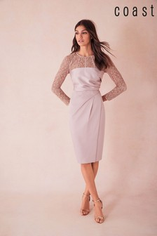 325f8453347d Add to Favourites. Coast Natural Lucy Lace Shift Dress