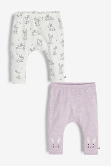 2 Pack Bunny Leggings (0mths-2yrs)