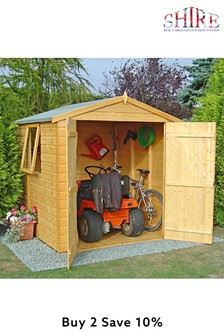 Arran 6ft X 6ft Garden Shed Assembled By Shire