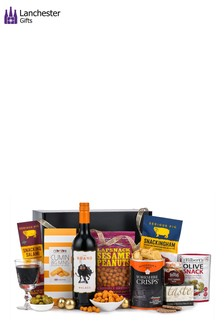 The Ultimate Wine And Savoury Snacks Gift Set by Lanchester Gifts