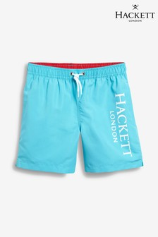 Hackett Blue Logo Volley Swim Shorts