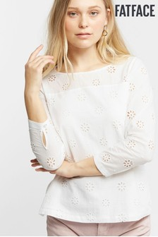 FatFace Emily Broderie Blouse
