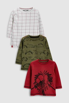 Monster Long Sleeve T-Shirts Three Pack (3mths-6yrs)