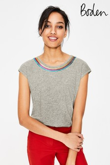 Boden Grey Robyn Jersey Tee