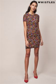 Whistles Dora Print Silk Bodycon Dress
