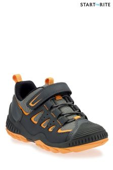 Start-Rite Grey/Orange Charge Primary Shoe