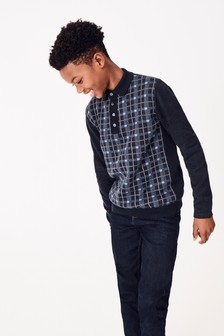 Check Knitted Polo (3-16yrs)