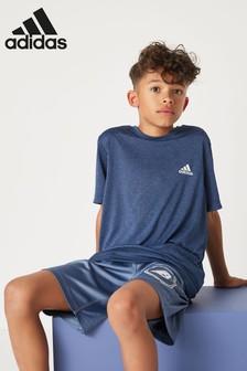 adidas Navy Textured Training T-Shirt