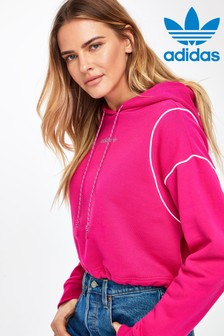 adidas Originals Tech Pink Cropped Hoody